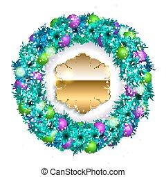 Vector Christmas wreath