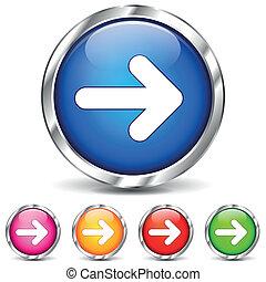 Vector chrome arrows icons