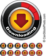 vector chrome download buttons