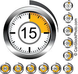 Vector chrome round timers