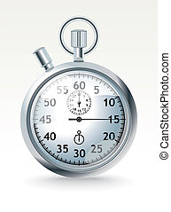 stopwatch - vector chrome stopwatch - vector illustration