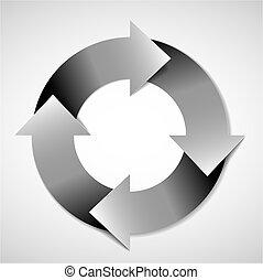 vector, ciclo vital, diagrama