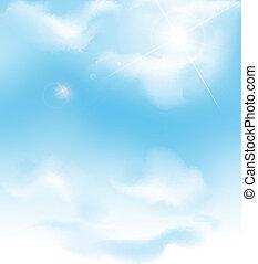 vector, cielo azul