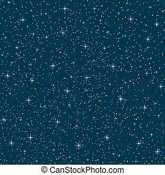 vector, cielo, seamless, noche