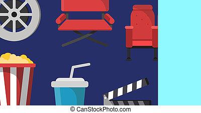 Vector cinema business card template talent agency