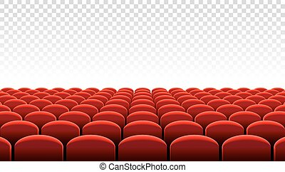 Vector Cinema or Theater rows of red seats