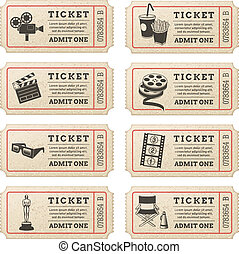 Vector Cinema tickets - Eight hi quality vector cinema...