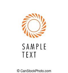 Vector circle abstract logo design.