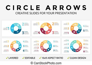 Vector circle arrows infographic