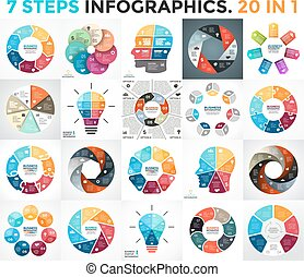 Vector circle arrows infographic