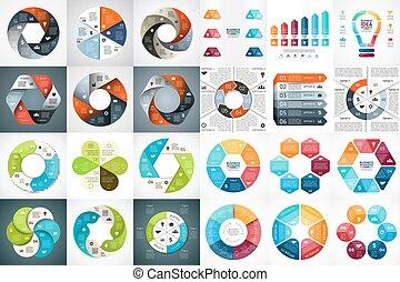 Vector circle arrows infographic, diagram, graph, presentation, chart