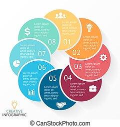Vector circle arrows infographic, cycle diagram, graph, presentation chart