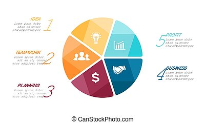 Vector circle arrows infographic, cycle diagram, graph, presentation chart. Business concept with 5 options, parts, steps, processes.