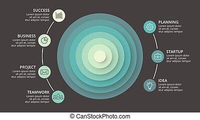 Vector circle arrows infographic, cycle diagram, graph,...