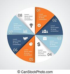 Vector circle arrows infographic, cycle diagram, graph, presentation chart. Business concept with options, parts, steps, processes.