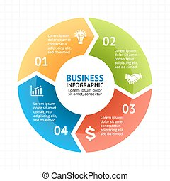Vector circle arrows infographic, diagram, graph, presentation, chart