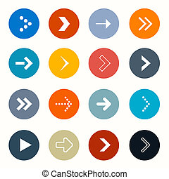 Vector Circle Arrows Set on White Background