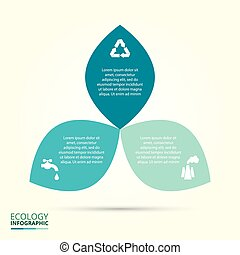 Vector circle eco infographic.