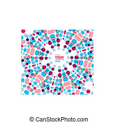 Vector circle geometric pattern mosaic background