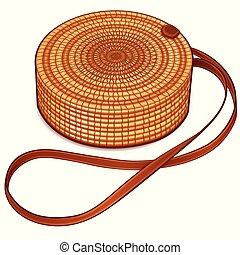 Vector circle hand bag design