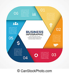 Vector circle infographic diagram 6 options