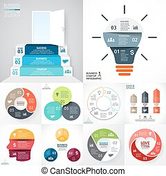Vector circle infographic set