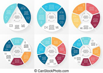 Vector circle infographic. Template for cycle diagram,...