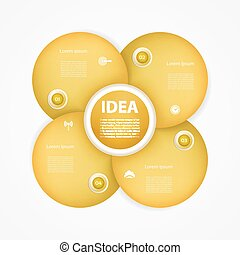 Vector circle infographic. Template for diagram, graph, presentation and chart. Business concept with 4 cyclic options, parts, steps or processes. Abstract background.