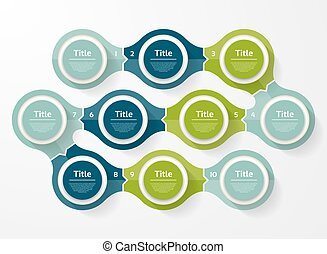 Vector circle infographic. Template for diagram, graph, presentation and chart. Business concept with ten options, parts, steps or processes. Abstract background.