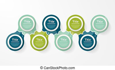 Vector circle infographic. Template for diagram, graph, presentation and chart. Business concept with eight options, parts, steps or processes. Abstract background.