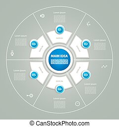 Vector circle infographic. Template for diagram, graph,...