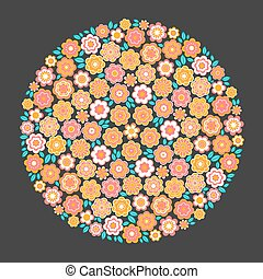 Vector Circle of Flower