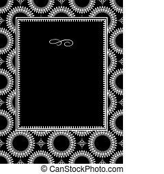 Vector Circle Ornament Frame - Vector decorative frame. Easy...
