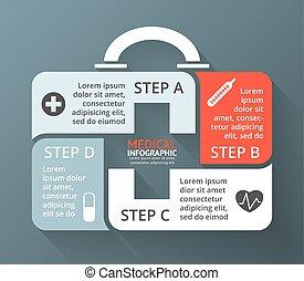 Vector circle plus sign medicine chest healthcare ...