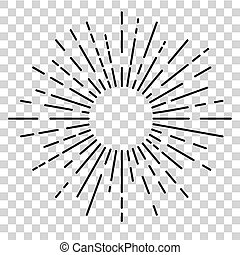 circle rounded sun burst at transparent effect background - ...