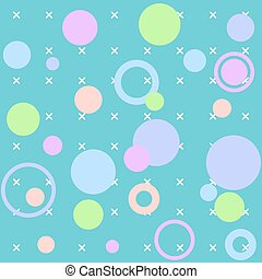 Vector circles abstract seamless pattern