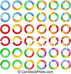 Vector circles - Set of abstract vector circles