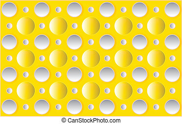 vector circles on a yellow background