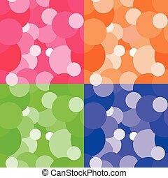 Vector circles seamless pattern