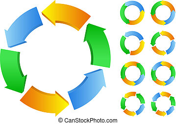 Vector circles with arrows