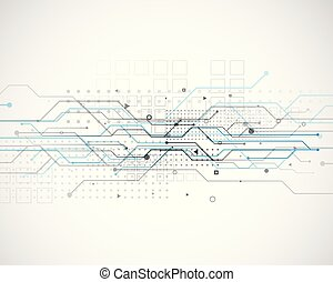 vector circuit network diagram technology background design