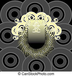 Vector circular design with golden disks