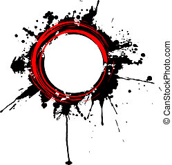 Vector circular grunge frame