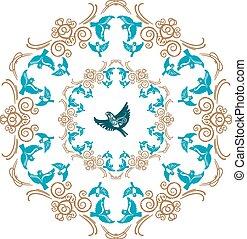 Vector circular ornament
