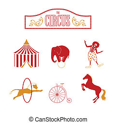 Vector Circus Design Elements