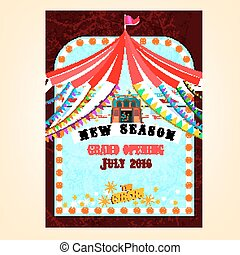vector, circus, poster
