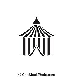 Vector Circus Tent - Vector Illustration of a Circus Tent