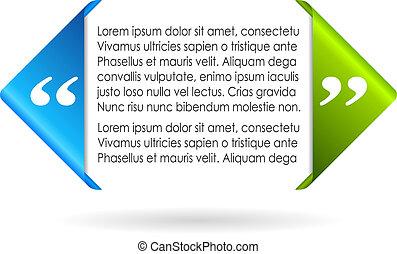 Vector citation symbol, add your text