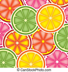 citrus background - vector citrus background