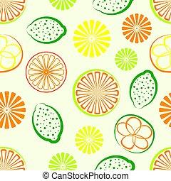 vector citrus seamless background
